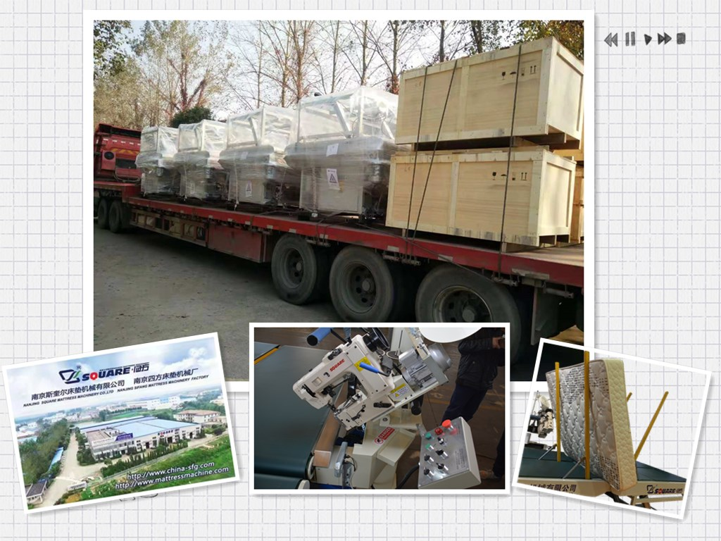 Mattress tape edge machine's new journey to our customer
