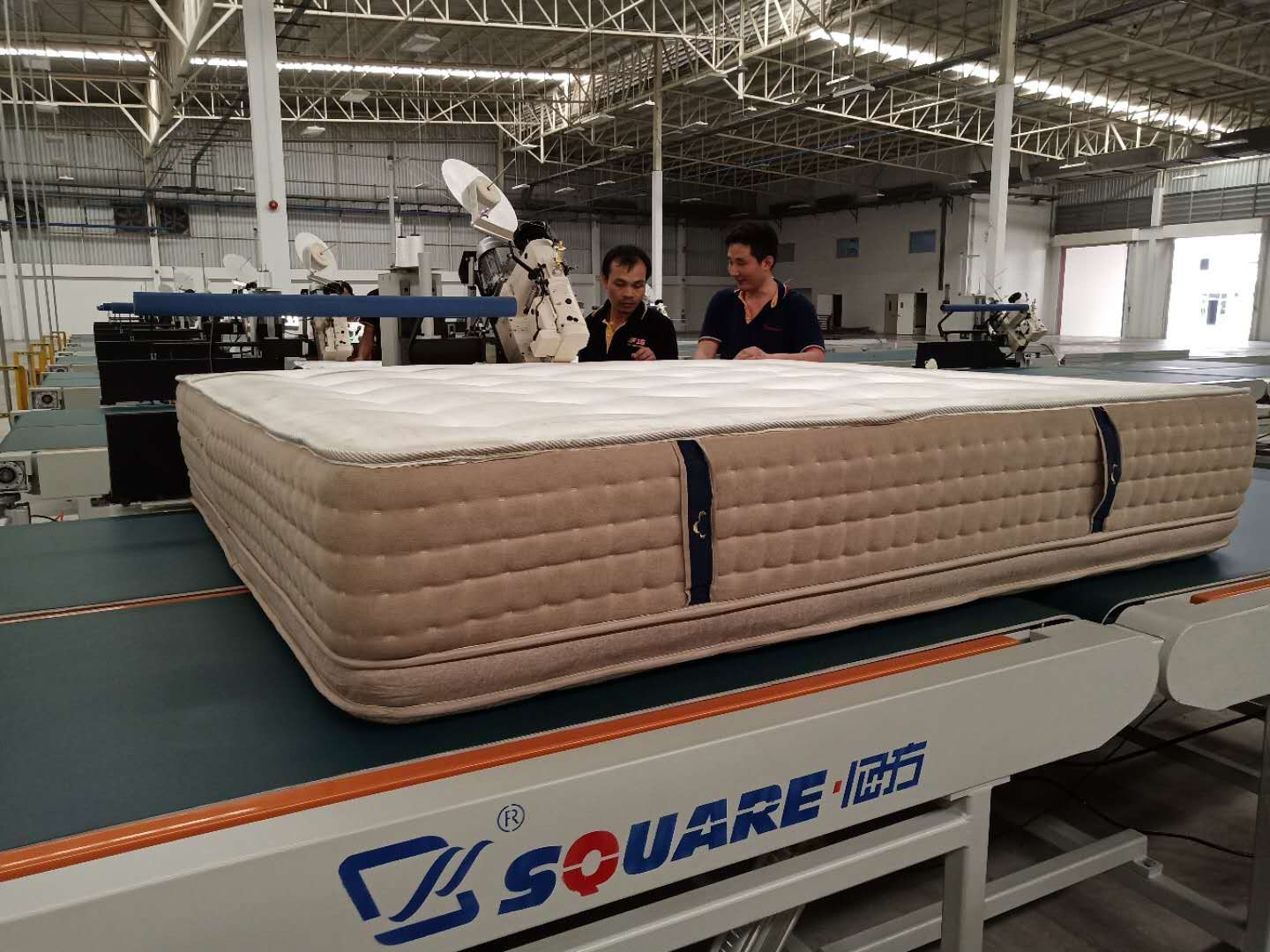 The maintainence of 14 sets of mattress tape edge machine for Sleemon